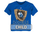 Los Angeles Dodgers Majestic MLB Kids Baseball Mitt T-Shirt Infant Apparel