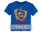 Chicago Cubs Majestic MLB Kids Baseball Mitt T-Shirt T-Shirts