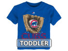 Chicago Cubs Majestic MLB Toddler Baseball Mitt T-Shirt T-Shirts