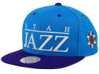 Utah Jazz Mitchell and Ness NBA Top Shelf Snapback Cap Adjustable Hats