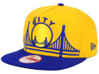 Golden State Warriors New Era NBA Logo Mural Snap 9FIFTY Cap Adjustable Hats