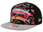 San Antonio Spurs New Era NBA Logo Mural Snap 9FIFTY Cap Adjustable Hats
