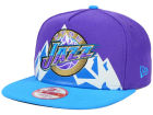 Utah Jazz New Era NBA Logo Mural Snap 9FIFTY Cap Adjustable Hats