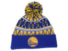 Golden State Warriors Mitchell and Ness NBA Tribal HI 5 Pom Beanie Knit Hats