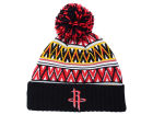 Houston Rockets Mitchell and Ness NBA Tribal HI 5 Pom Beanie Knit Hats