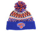 New York Knicks Mitchell and Ness NBA Tribal HI 5 Pom Beanie Knit Hats