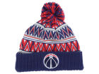 Washington Wizards Mitchell and Ness NBA Tribal HI 5 Pom Beanie Knit Hats