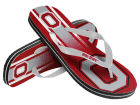 Ohio State Buckeyes Forever Collectibles Youth Wordmark Stripe Flip Flops Apparel & Accessories
