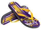 LSU Tigers Forever Collectibles Youth Wordmark Stripe Flip Flops Apparel & Accessories