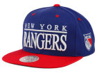 New York Rangers Mitchell and Ness NHL Top Shelf Snapback Cap Adjustable Hats