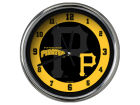 Pittsburgh Pirates Chrome Clock II Home Office & School Supplies