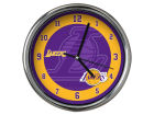 Los Angeles Lakers Chrome Clock II Home Office & School Supplies