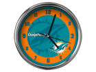 Miami Dolphins Chrome Clock II Home Office & School Supplies