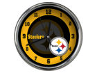 Pittsburgh Steelers Chrome Clock II Home Office & School Supplies