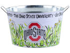 Ohio State Buckeyes Metal Bucket 15x9x10.5 Gameday & Tailgate