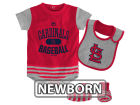 St. Louis Cardinals Majestic MLB Newborn Baseball Property Bib & Booties Set Infant Apparel