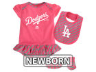 Los Angeles Dodgers Majestic MLB Newborn Girls Bib & Booty Set Outfits