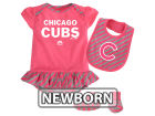 Chicago Cubs Majestic MLB Newborn Girls Bib & Booty Set Outfits