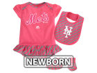 New York Mets Majestic MLB Newborn Girls Bib & Booty Set Outfits