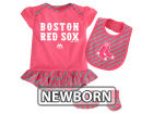 Boston Red Sox Majestic MLB Newborn Girls Bib & Booty Set Outfits