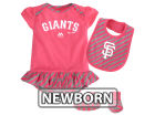 San Francisco Giants Majestic MLB Newborn Girls Bib & Booty Set Outfits