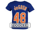 New York Mets Jacob DeGrom Majestic MLB Toddler Official Player T-Shirt T-Shirts