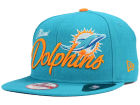 Miami Dolphins New Era NFL Chase Script Front 9FIFTY Snapback Cap Adjustable Hats