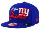 New York Giants New Era NFL Chase Script Front 9FIFTY Snapback Cap Adjustable Hats