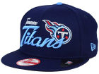 Tennessee Titans New Era NFL Chase Script Front 9FIFTY Snapback Cap Adjustable Hats