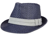 LIDS Private Label Straw Chambray Band Tall Bow Trilby Hats