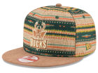 Milwaukee Bucks New Era NBA HWC The Natural Print 9FIFTY Snapback Cap Adjustable Hats
