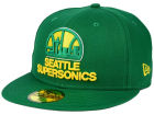 Seattle SuperSonics New Era NBA HWC Anniversary Patch 59FIFTY Cap Fitted Hats