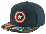 Marvel Sublimated Visor Snapback Hat Adjustable Hats