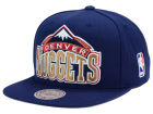 Denver Nuggets Mitchell and Ness NBA XL Logo Snapback Cap Hats