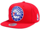 Philadelphia 76ers Mitchell and Ness NBA XL Logo Snapback Cap Hats