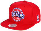 Detroit Pistons Mitchell and Ness NBA XL Logo Snapback Cap Hats