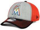 Miami Marlins New Era MLB Heathered Neo 39THIRTY Cap Stretch Fitted Hats