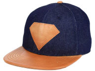 DC Comics Chambray Leather Strapback Hat Adjustable Hats