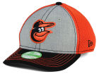 Baltimore Orioles New Era MLB Youth Heathered Neo 39THIRTY Cap Stretch Fitted Hats