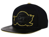 Pro Standard NBA Black & Gold Premium Leather Strapback Hat Adjustable Hats