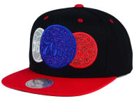 Mitchell and Ness NBA Triple Stack Metallic Snapback Cap Adjustable Hats