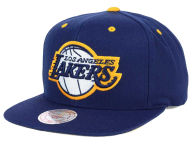 Mitchell and Ness NBA Navy & Yellow Snapback Cap Adjustable Hats