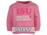 NCAA Infant Girls Pink Hearts Crew Fleece Sweatshirt Infant Apparel
