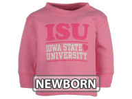 NCAA Newborn Girls Stacked Pink Hearts Crew Fleece Infant Apparel