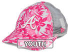 Atlanta Braves New Era MLB Youth Flower Power 9FORTY Cap Adjustable Hats