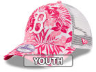 Boston Red Sox New Era MLB Youth Flower Power 9FORTY Cap Adjustable Hats