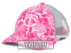 Minnesota Twins New Era MLB Youth Flower Power 9FORTY Cap Adjustable Hats