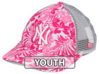 New York Yankees New Era MLB Youth Flower Power 9FORTY Cap Adjustable Hats