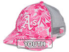 Oakland Athletics New Era MLB Youth Flower Power 9FORTY Cap Adjustable Hats