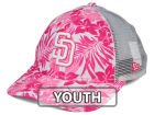 San Diego Padres New Era MLB Youth Flower Power 9FORTY Cap Adjustable Hats
